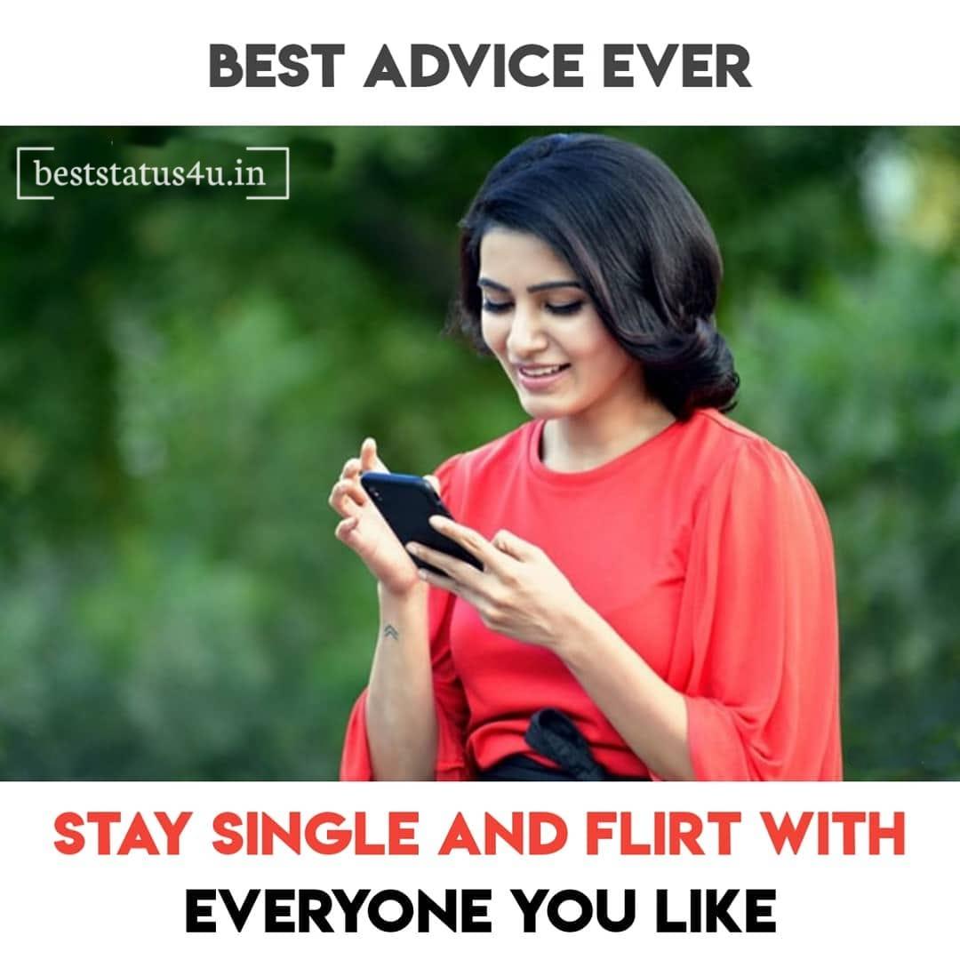 Single girl status whatsapp Single Quotes