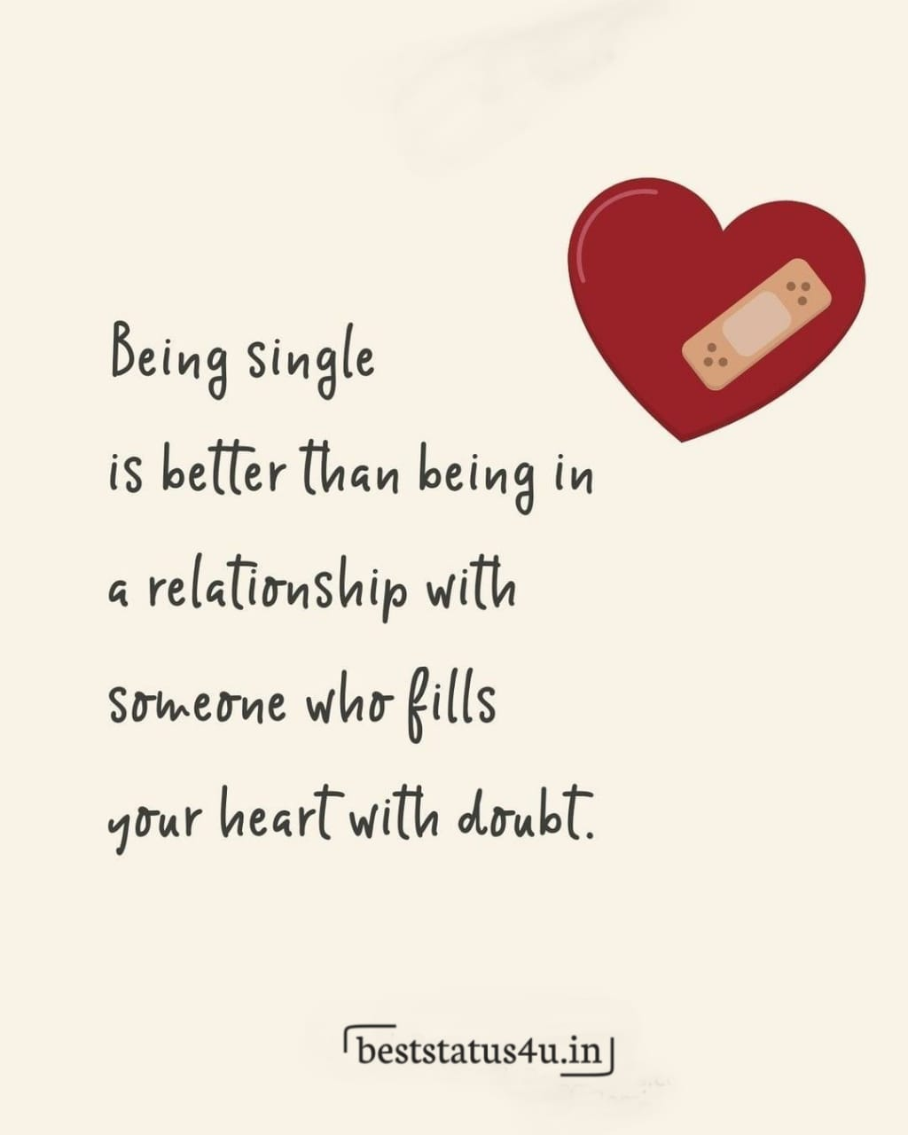 I love being single quotes